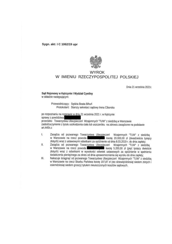 Poślizgnięcie na chodniku - Zdarzenie z dnia 16.01.2019 r.